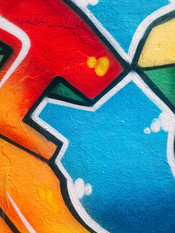 Colorful graffiti by Leandro Crespi for Stocksy United