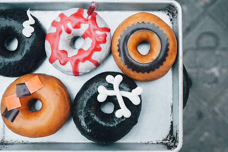 Halloween donuts by Vera Lair for Stocksy United