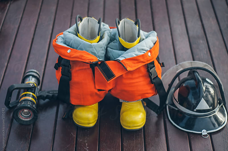 Firefighter's Equipment by Lumina for Stocksy United