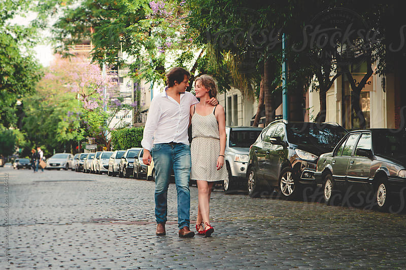 Couple in the City by Jayme Burrows for Stocksy United