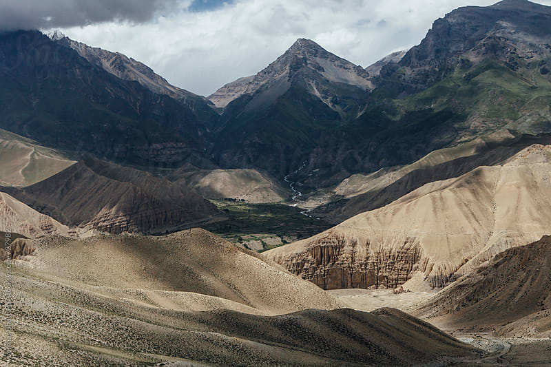 Play of shadows on the canvas of Upper Mustang. by Shikhar Bhattarai for Stocksy United