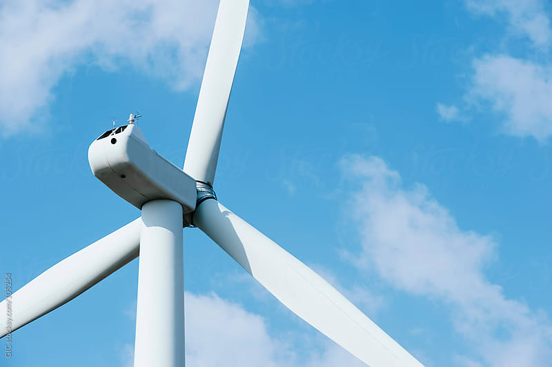 Wind turbine close up by GIC for Stocksy United