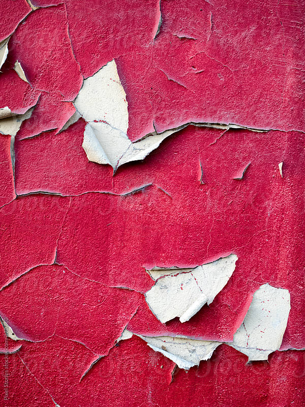 Weathered red wall by Pixel Stories for Stocksy United