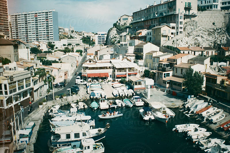 A fishing harbour in Marseilles by Anna Malgina for Stocksy United