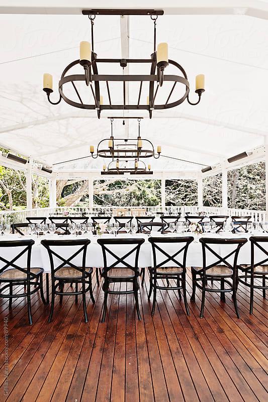 wedding venue by Gillian Vann for Stocksy United