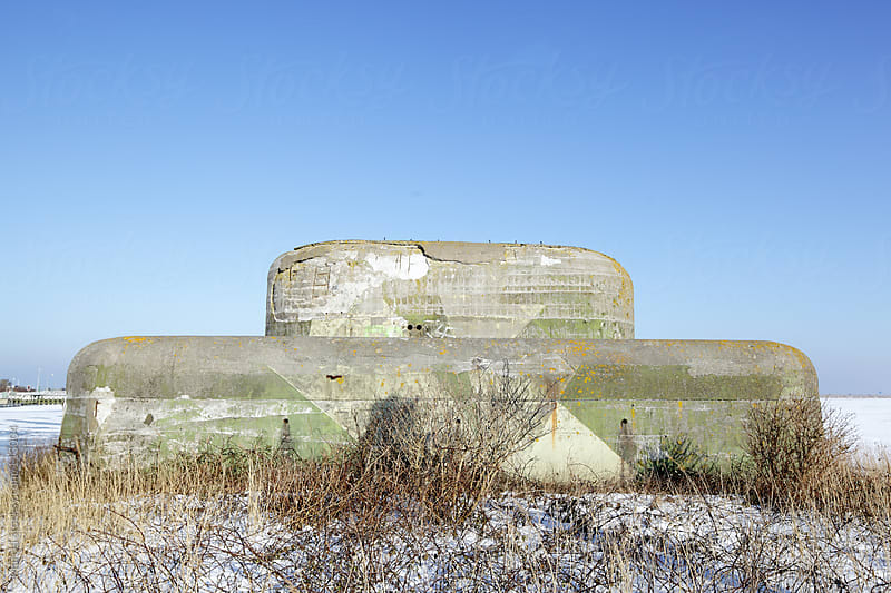 Old concrete world war II bunker by Marcel for Stocksy United
