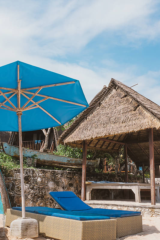 Straw Hut At Tropical Beach by Alexander Grabchilev for Stocksy United