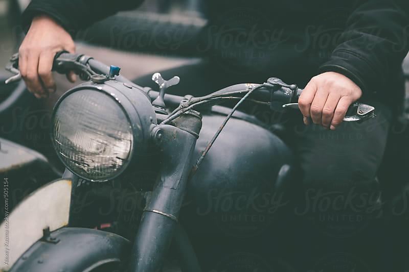 vintage german motorbike by Alexey Kuzma for Stocksy United