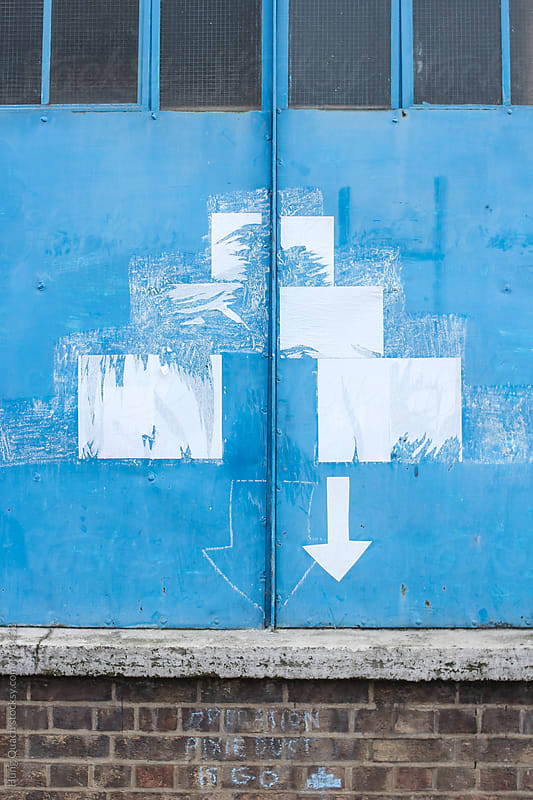 Art on Blue Wall by Hung Quach for Stocksy United