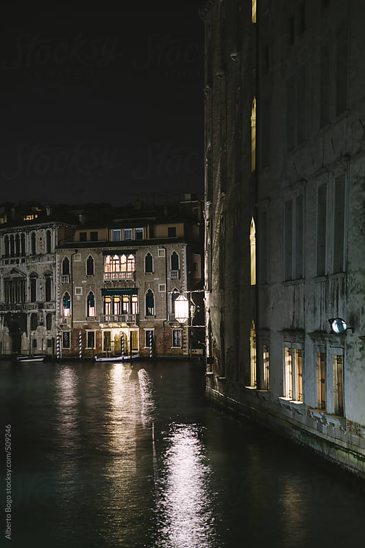Grand Canal by night, Venice, Italy by Alberto Bogo for Stocksy United