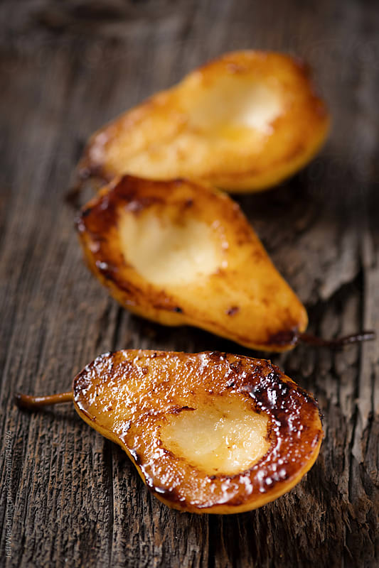 Delicious Grilled Pears by Jeff Wasserman for Stocksy United