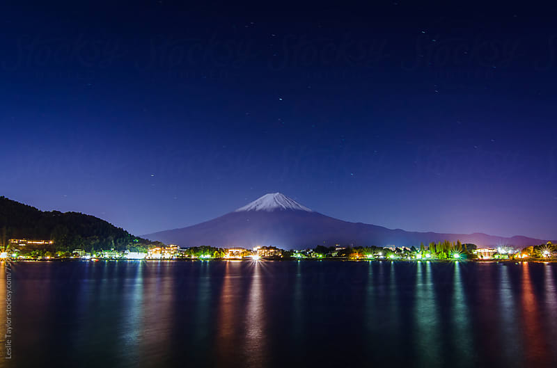 Mt Fuji At Twilight by Leslie Taylor for Stocksy United