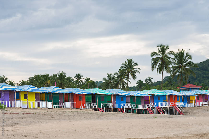 colorful beach houses by RG&B Images for Stocksy United