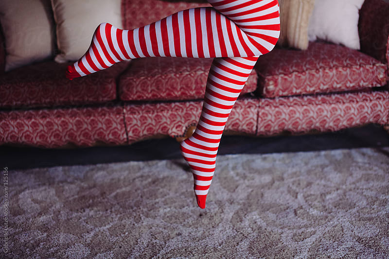 Legs in Tights Jumping by Gabrielle Lutze for Stocksy United