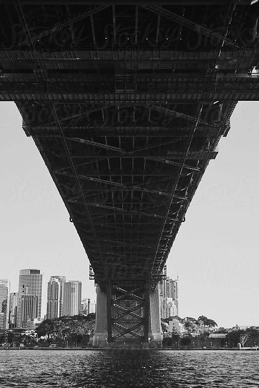Underside Of The Sydney Harbour Bridge by Adrian P Young for Stocksy United