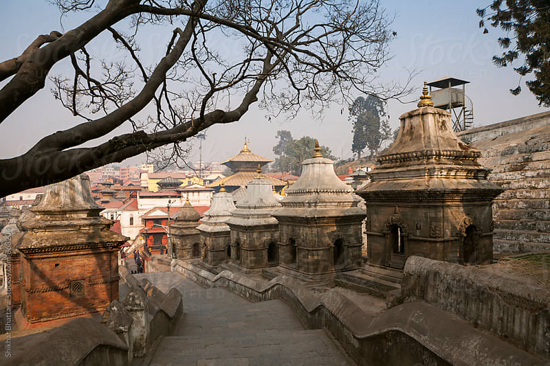 Pashupatinath Temple, Kathmandu, Nepal. by Shikhar Bhattarai for Stocksy United