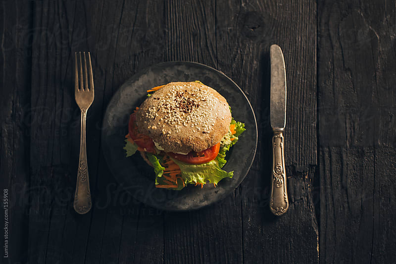 Veggie Burger by Lumina for Stocksy United