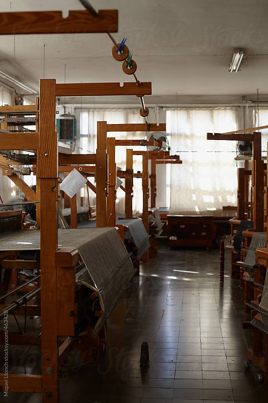 Workshop of artisanal looms  by Miquel Llonch for Stocksy United