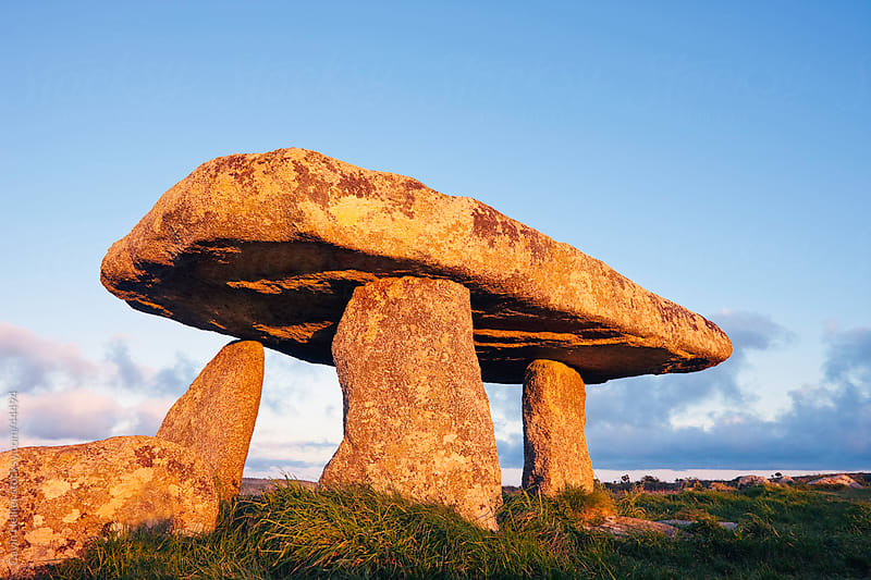 Lanyon Quoit burial chamber, Madron, near Penzance, Lands End, Cornwall. by Gavin Hellier for Stocksy United