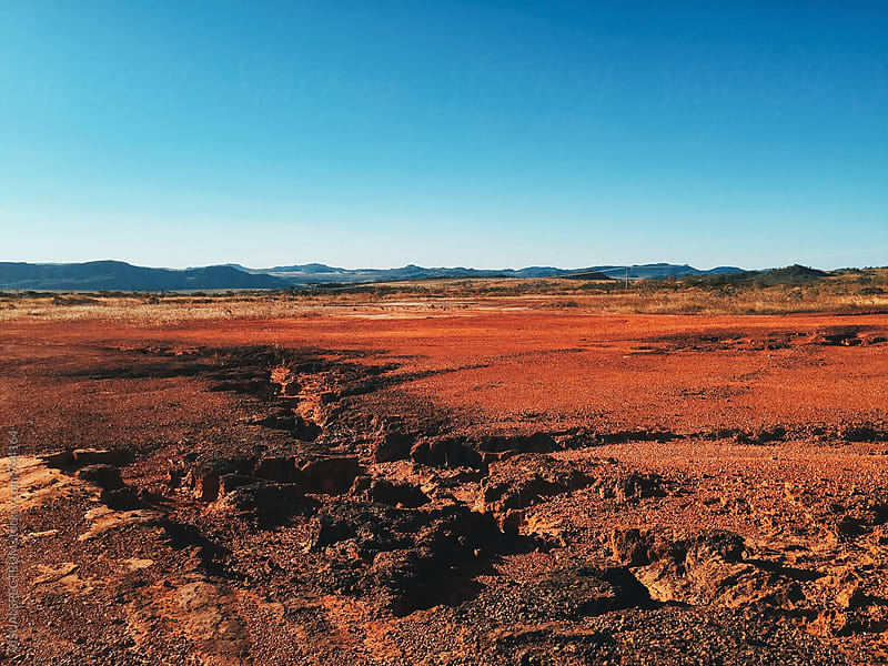 Red Barrren Soil in Beautiful Wild Landscape (Chapada dos Veadeiros, Brazil) by Julien L. Balmer for Stocksy United