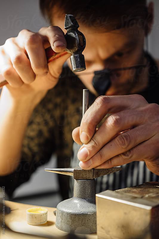 A young jeweller working by Tõnu Tunnel for Stocksy United