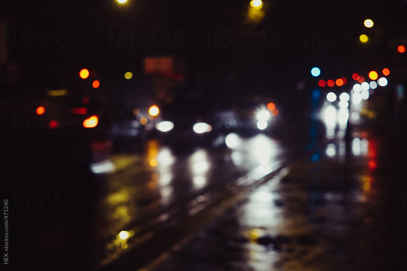 Late Night Traffic in a City. London by HEX. for Stocksy United