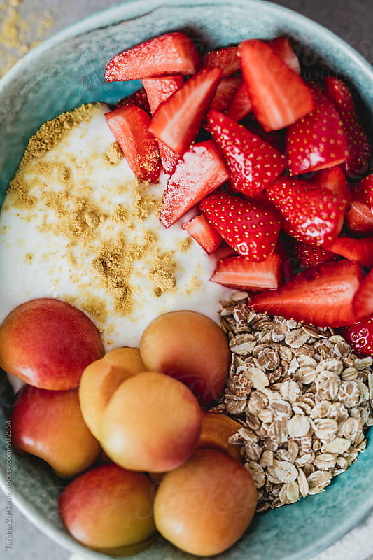 Muesli with strawberry and apricot by Tatjana Ristanic for Stocksy United