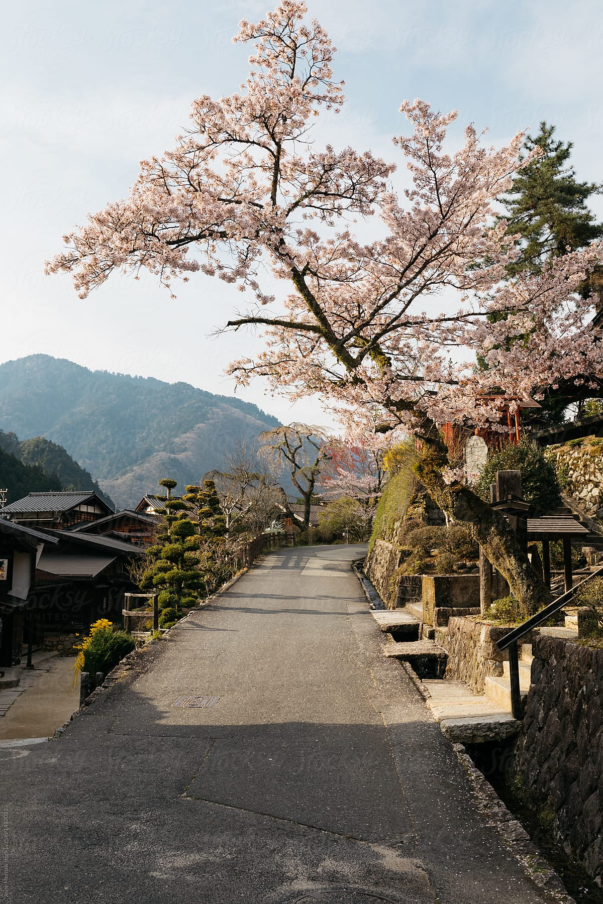 View Of Small Traditional Home In Japanese Village Country Side