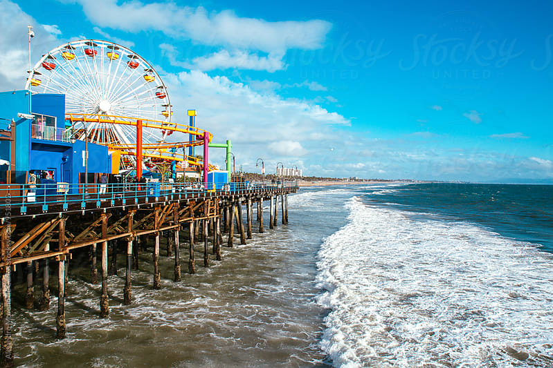 Theme park on pier in Santa Monica by Alejandro Moreno de Carlos for Stocksy United