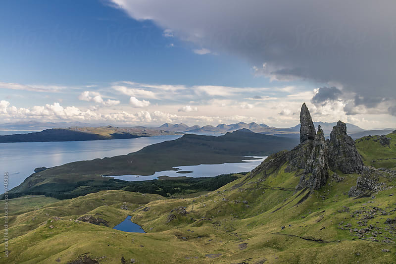 Old man of Storr by Leander Nardin for Stocksy United