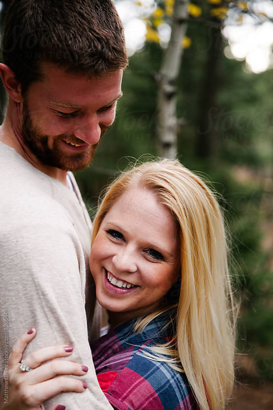 Woodsy Engagement shoot by Matthew Linker for Stocksy United