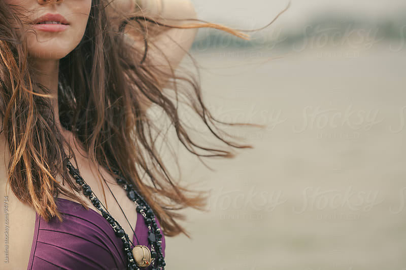 Sensual Woman on the Beach by Lumina for Stocksy United