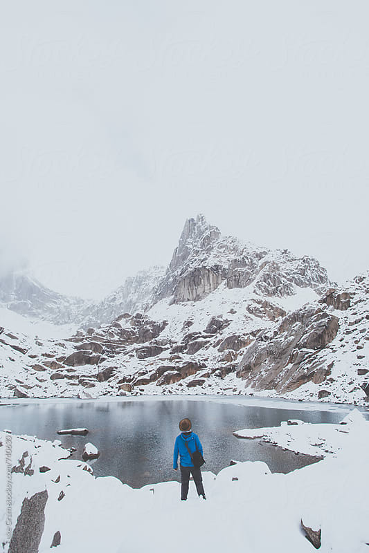 Hiking up in Bugaboo Provincial Park by Luke Gram for Stocksy United