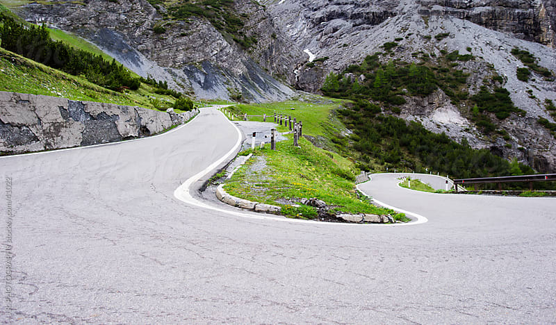 Winding road by J.R. PHOTOGRAPHY for Stocksy United