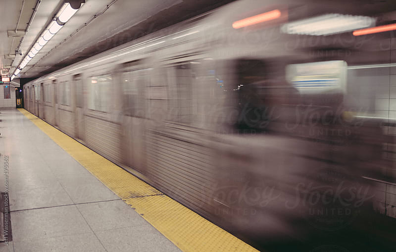 Subway Train on the Move by Jeff Wasserman for Stocksy United