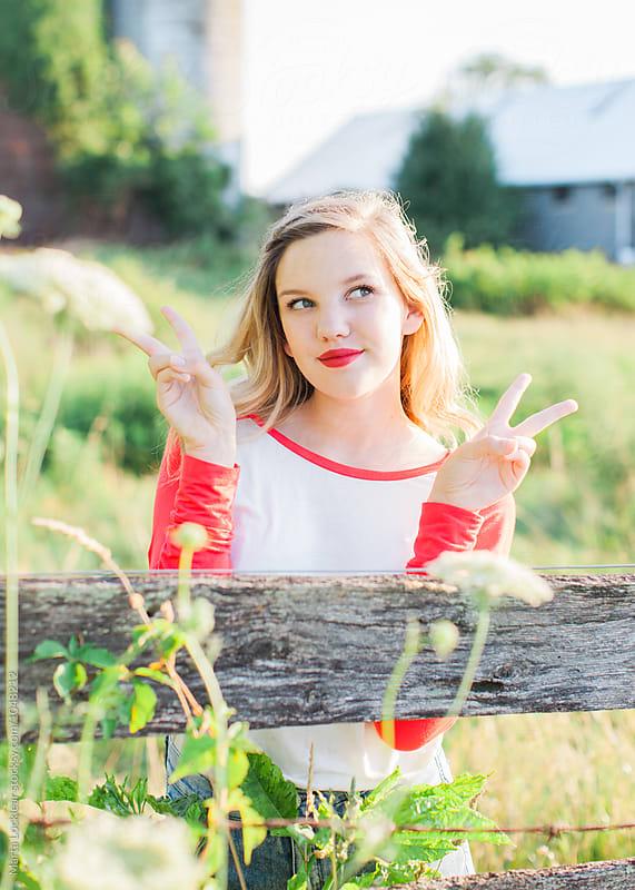 Teen Peace by Marta Locklear for Stocksy United