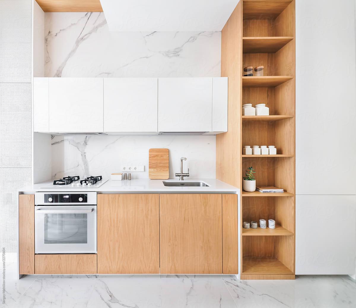 Minimalist Interior Design Of Kitchen By Sergey Melnikov Kitchen Interior Design Stocksy United