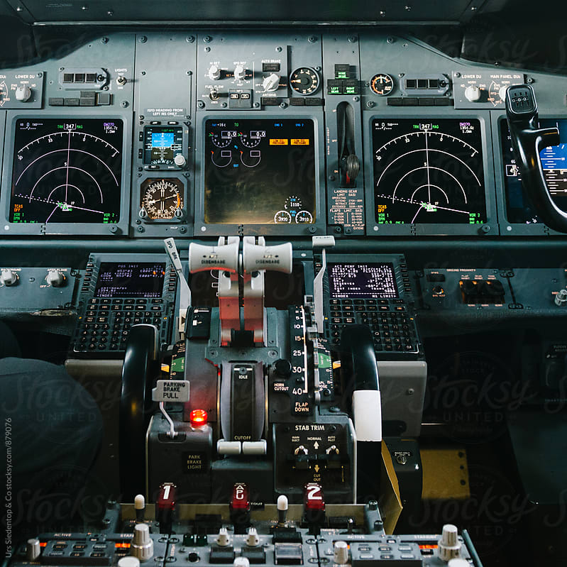 Airplane Cockpit  by Urs Siedentop & Co for Stocksy United
