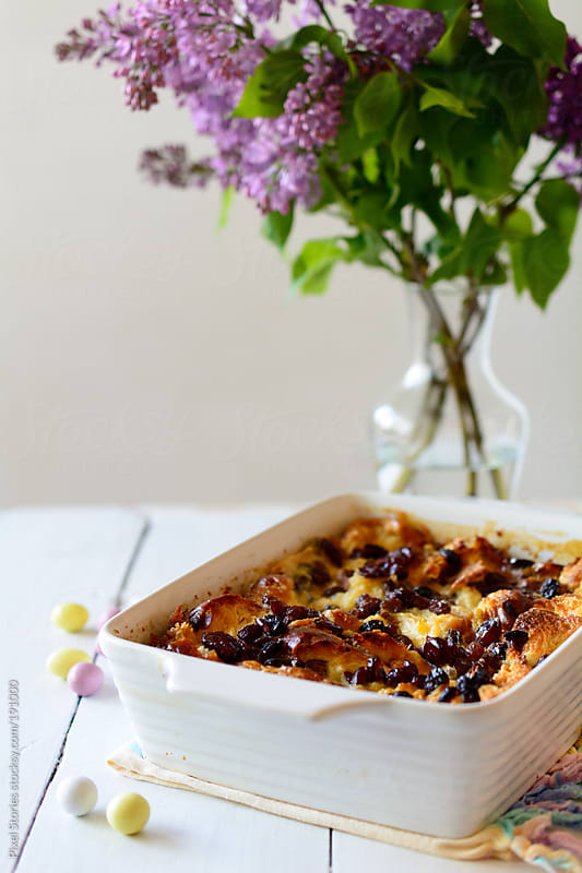 Easter bread pudding by Pixel Stories for Stocksy United