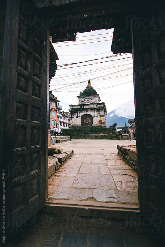 Temple in Asia, Kathmandu, Nepal by Alejandro Moreno de Carlos for Stocksy United