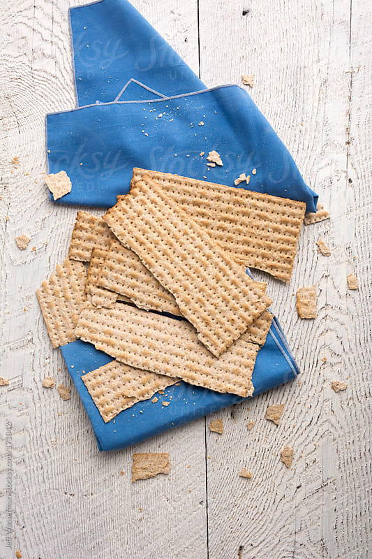 Whole Wheat Jewish Matzah at Passover by Studio Six for Stocksy United