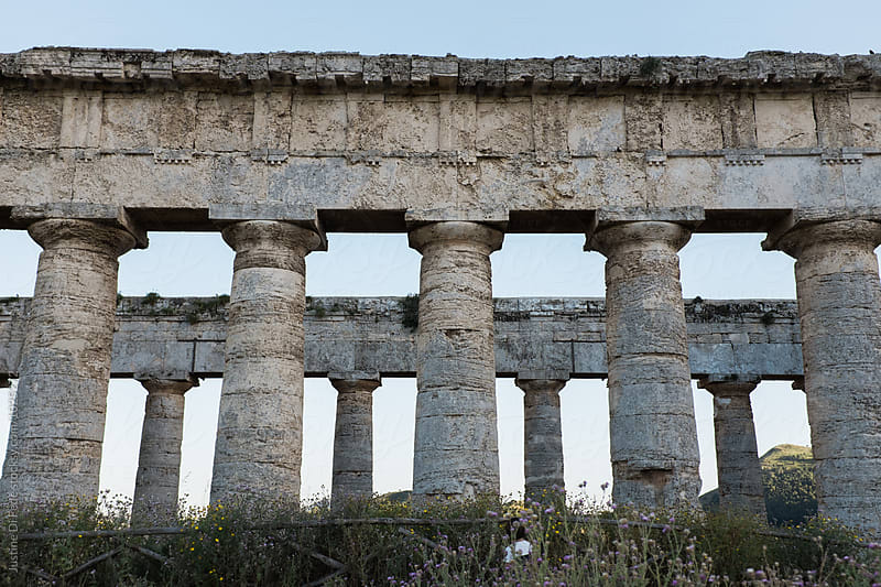 Greek Temple in Sicily by Justine Di Fede for Stocksy United