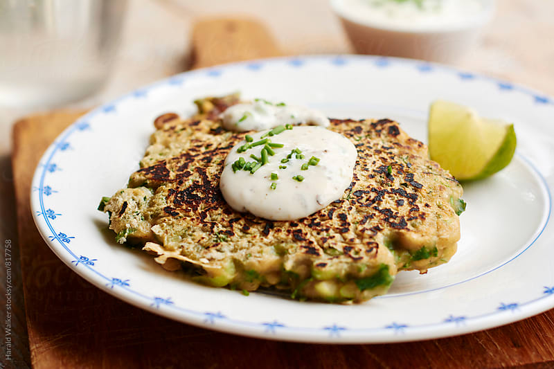 Spicy Kale Pancakes by Harald Walker for Stocksy United