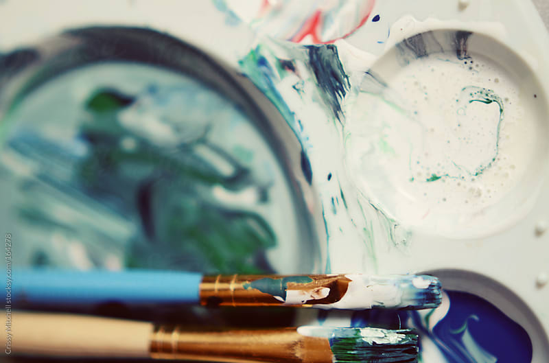 Paint brushes by Crissy Mitchell for Stocksy United