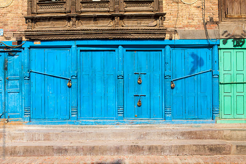 Colorful doors. by Shikhar Bhattarai for Stocksy United