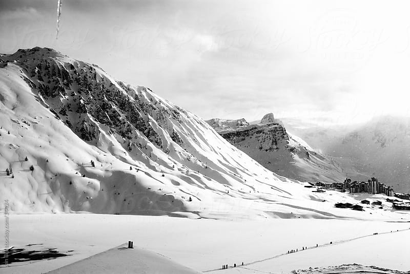 snow Mountains of Tignes, french alpes, france. by Jan Bijl for Stocksy United