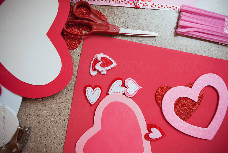 Valentine: Counter Messy With Valentine Crafts by Sean Locke for Stocksy United