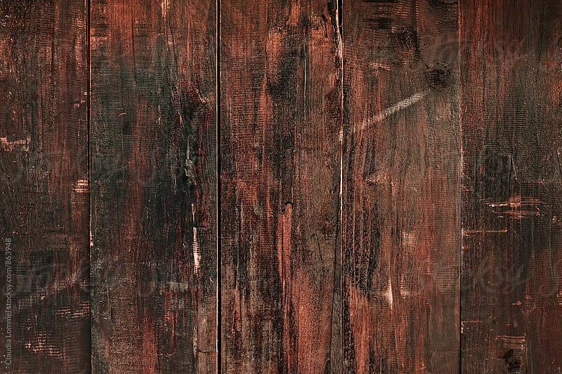 Dark stained wood panel background by Claudia Lommel for Stocksy United