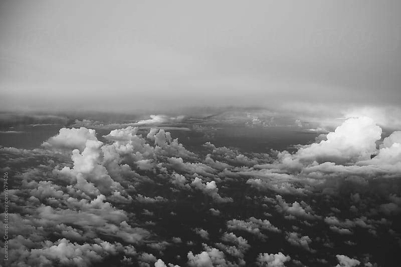 Clouds viewed from an airplane by Leandro Crespi for Stocksy United