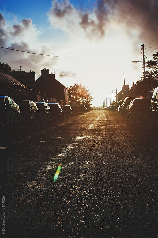 Sunset in the End of The Street by HEX. for Stocksy United
